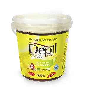 Depil Fácil Cera Natural Mel e Açúcar Camomila 550g - 600x600