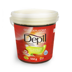 Depil Fácil Cera Natural Mel e Açúcar Cravo da índia 550g - 600x600