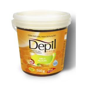 Depil Fácil Cera Natural Mel e Açúcar Tradicional 550g - 600x600