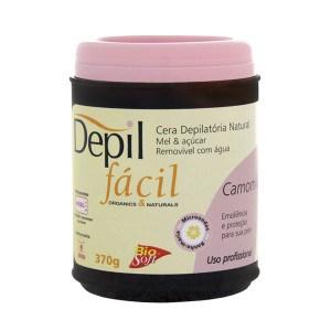 Depil Fácil Cera Natural Mel e Açúcar com Camomila 370g - 600x600