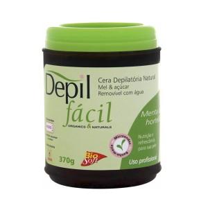 Depil Fácil Cera Natural Mel e Açúcar com Menta e Hortelã 370g - 600x600